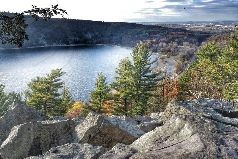 devils lake state park in baraboo wisconsin. photo