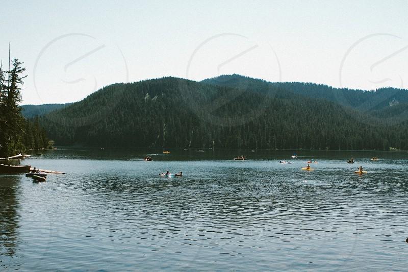 canoe yellow photo