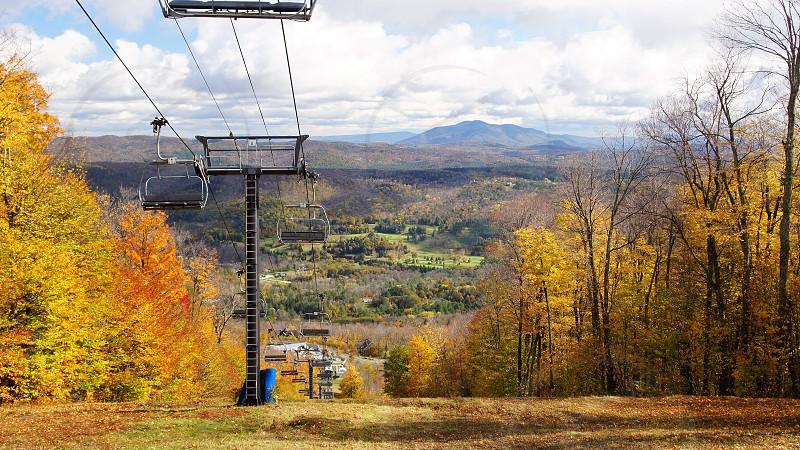Ski lift in the off season VT photo