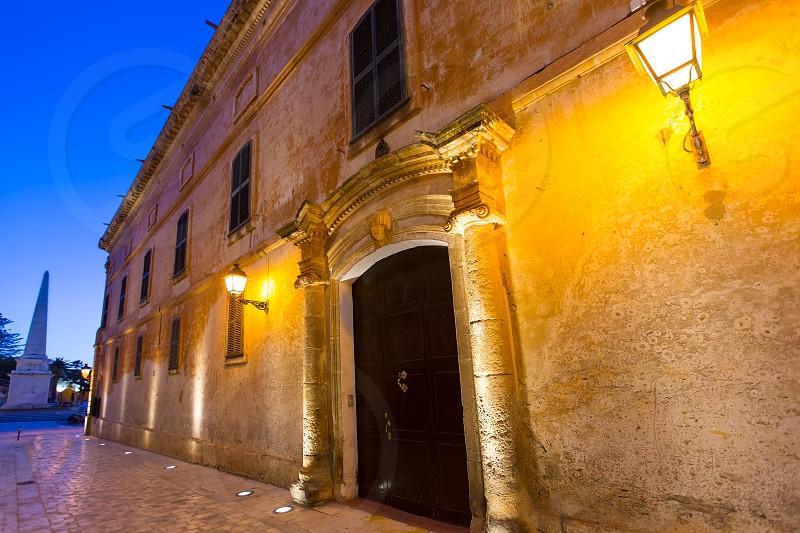 Ciutadella Menorca Major street in downtown Ciudadela at Balearic islands photo