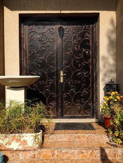 Beautiful Door steel craft house photo