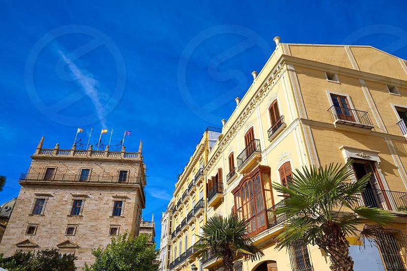 Valencia Plaza de la Virgen square and Palau Generalitat in Spain photo