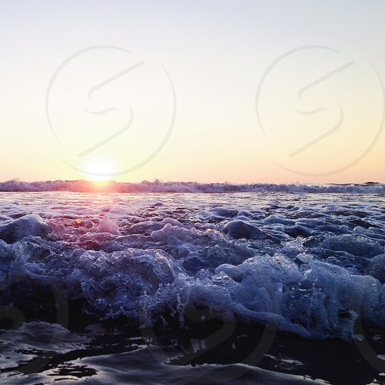 beach waves photo