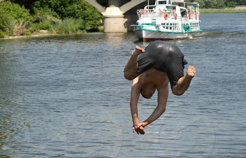 river jumping photo