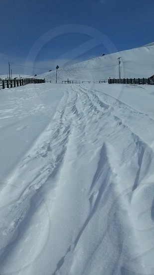 The drifting snow at our Montana Ranch photo