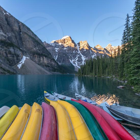 Lake Moraine Alberta Canada photo