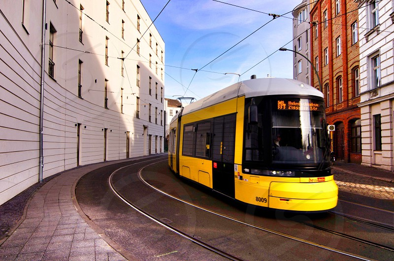 yellow tram photo