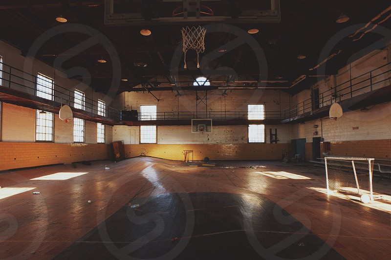 red basketball ring  photo