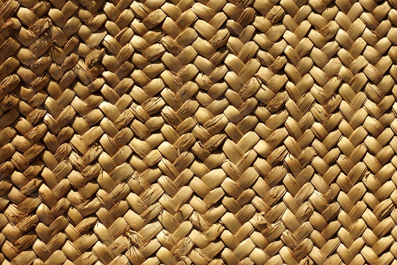 handcraft weave texture natural vegetal fiber traditional craft    photo