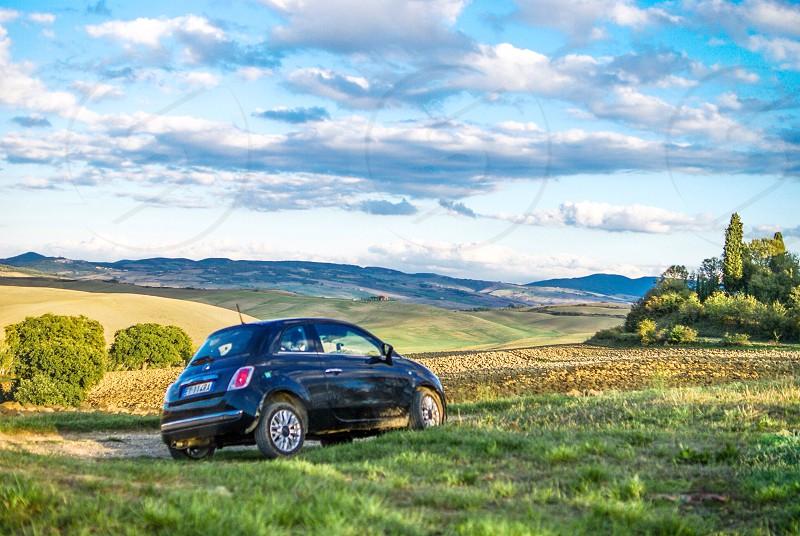 Travel car Italy Tuscany Fiat500 Italian style Hertz go explore photo