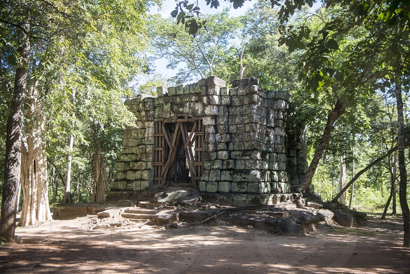 the Khmer Temples of Koh Ker east of the Town of Srayong west of the city Preah Vihear in Northwaest Cambodia.  Cambodia Sra Em November 2017 photo