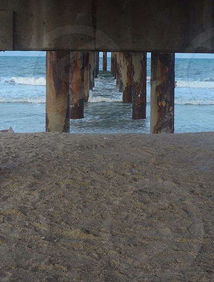 brown wooden deck pole photo