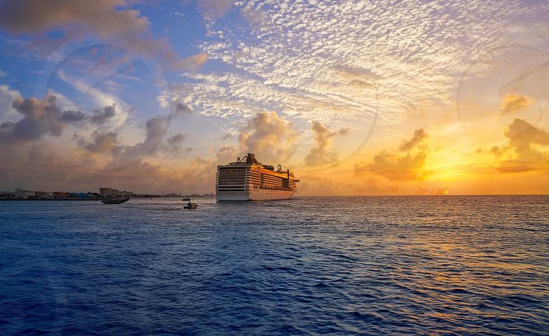 Cozumel island sunset cruise in Riviera Maya of Mayan Mexico photo