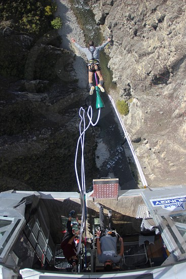 Bungy jumping Grand Canyon  photo