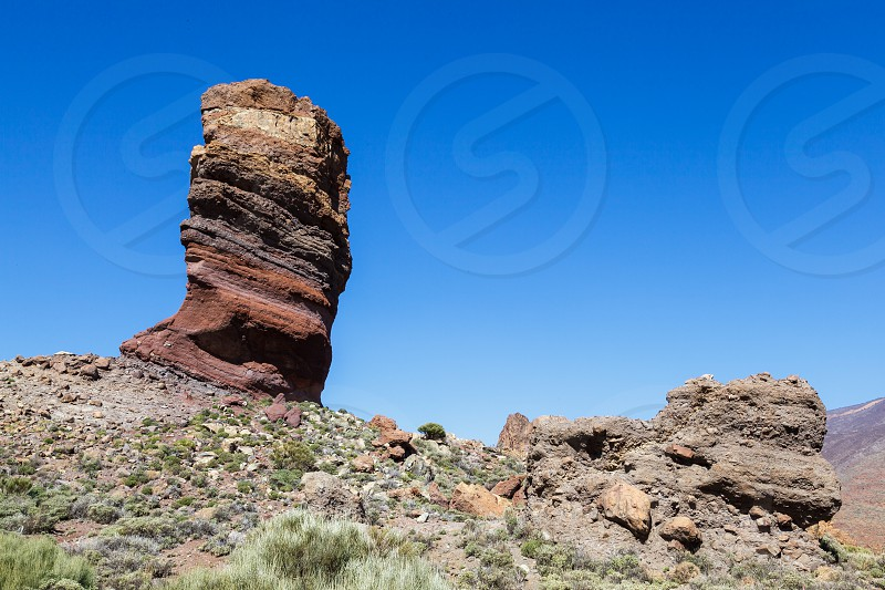 The rock called the Tree near Mount Teide photo