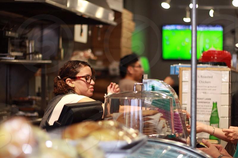 woman at cashier photo
