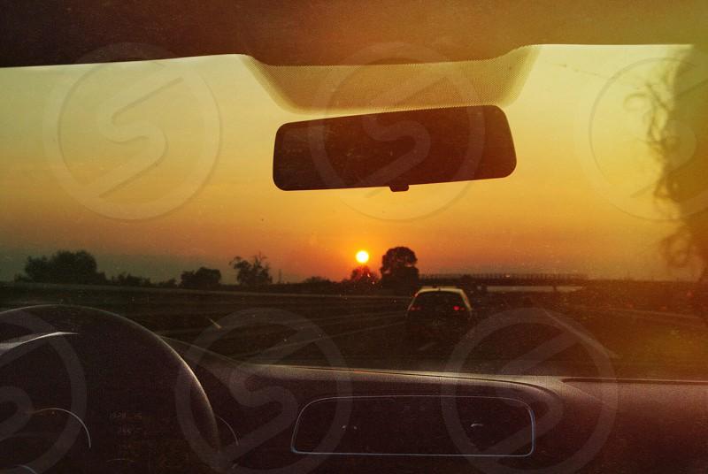 grey car dashboard photo