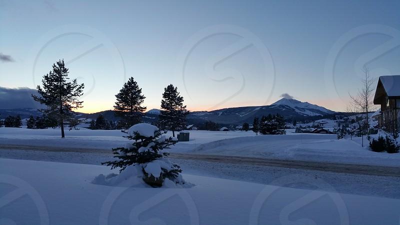 Sunset near Bozeman MT photo