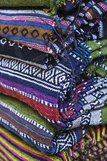 Colorfull cotton textile. Nepal photo