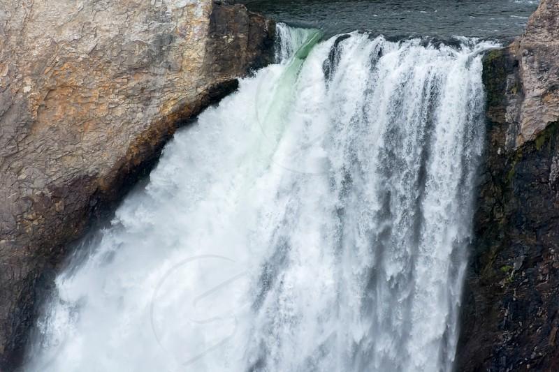 Close-up View of Lower Yellowstone Falls photo