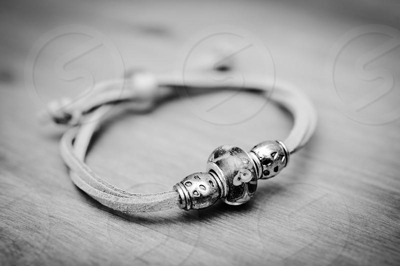 silver charm bracelet photo