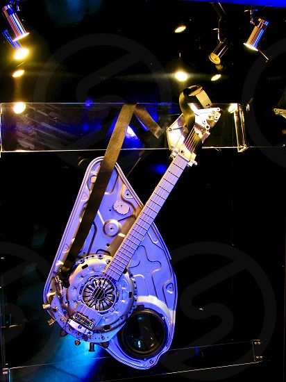 A concept guitar built from Ford car parts... and it works! photo