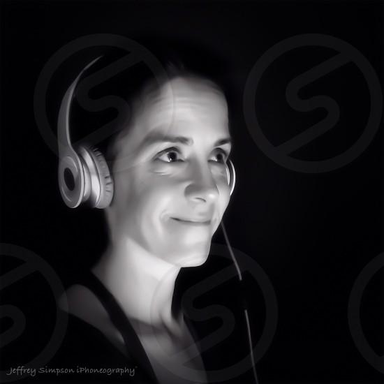 silver headphones photo