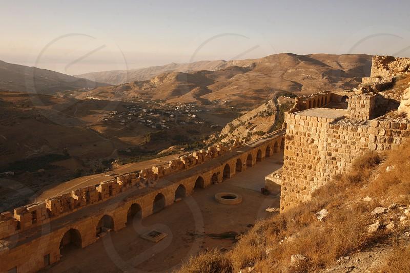 ASIEN NAHER OSTEN JORDANIEN KARAK CASTLEBURG FESTUNGDas Karak Castle oder die Karak Burg im Dorf Karak auf der Koenigsstraase im Zentrum von Jordanien im Oktober 2007.  (KEYSTONE/Urs Flueeler)  photo