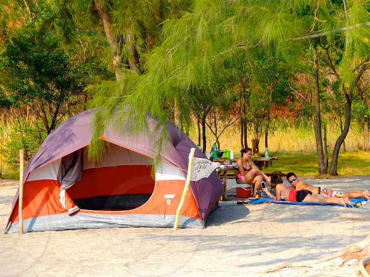 asia beach camping travel leisure vacation exotic friends chill  photo