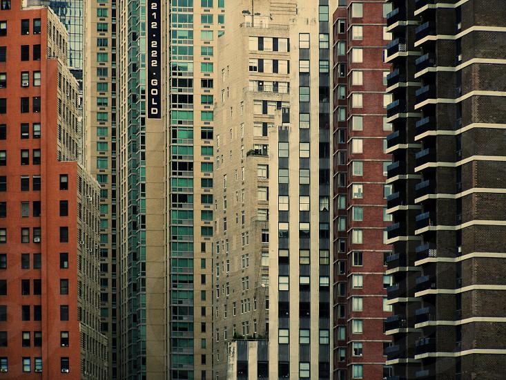 New York High Rise Skyscrapers Windows Pattern photo
