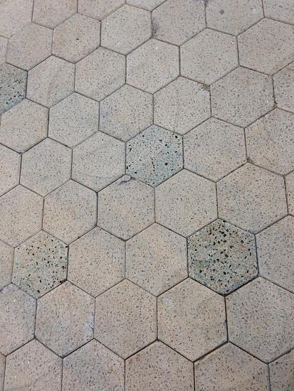 Hexagon textured tile.  photo