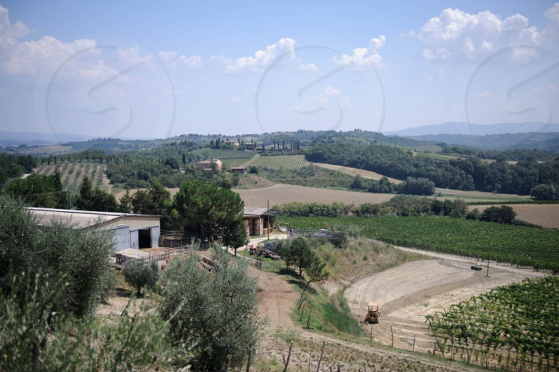 landscape view with house in the distance photo