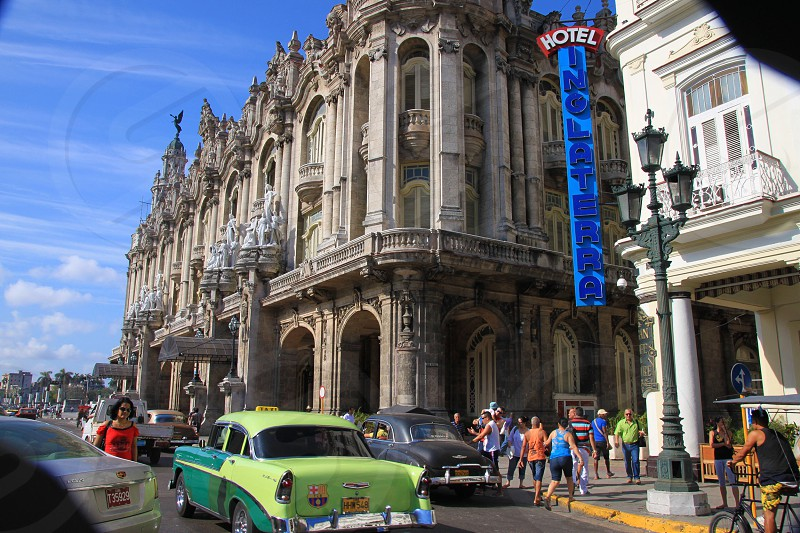 people walking near Gran Teatro de La Habana photo