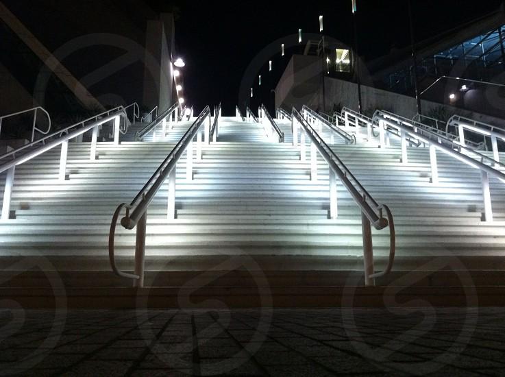 Stairs at night. photo