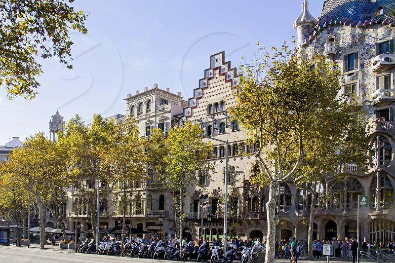 Facades of the Casa Amatler and the Casa Batlló in Barcelona photo