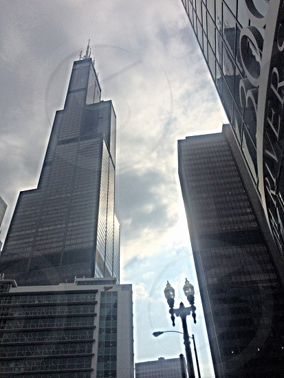 grey and black high-rise buildings photo