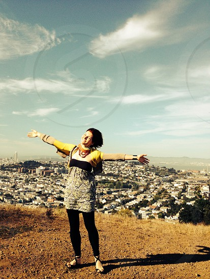 Free your thoughts on the top of San Francisco. Great recharge  photo