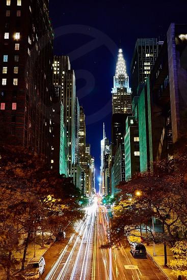 Skyscrapers on 42nd Street in Manhattan photo