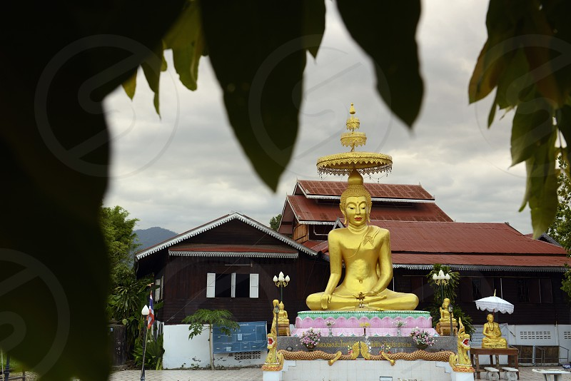 a temple in the village of  Pai in the north provinz of Mae Hong Son in the north of Thailand in Southeastasia. photo