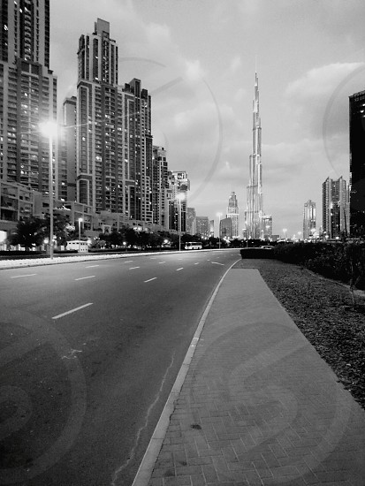 #Dubai #BusinessBay #BlackAndWhite #nopeople photo