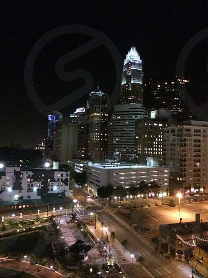 Charlotte city view at night  photo