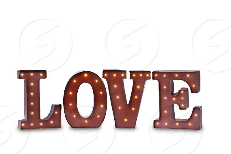 Illuminated Love Sign photo