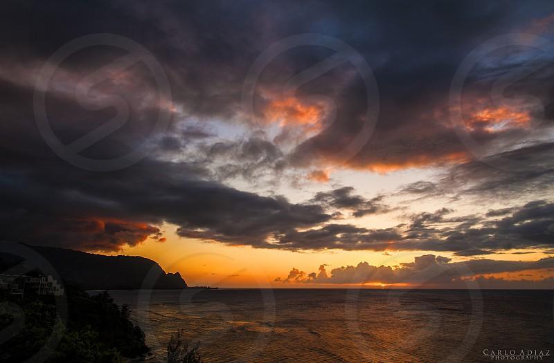 Sunset from princevilleKauai photo