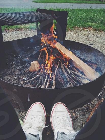 Camp bonfire photo