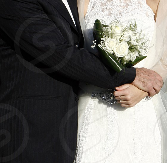 Father and daughter wedding photo