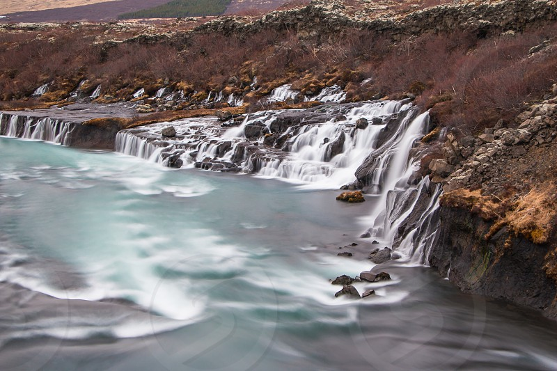 hvjerfall - first waterfall i visited in iceland photo