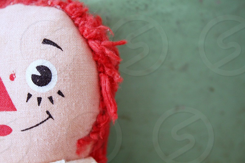 Smiling Raggedy Anne doll  photo