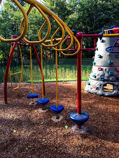 No better place to enjoy seats benches and swings than the playground photo