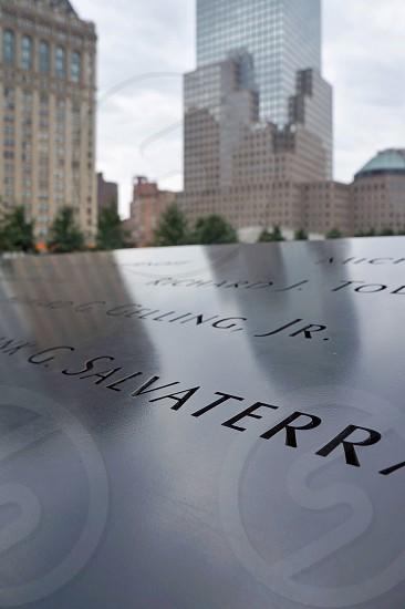 9/11 memorial in New York close up photo