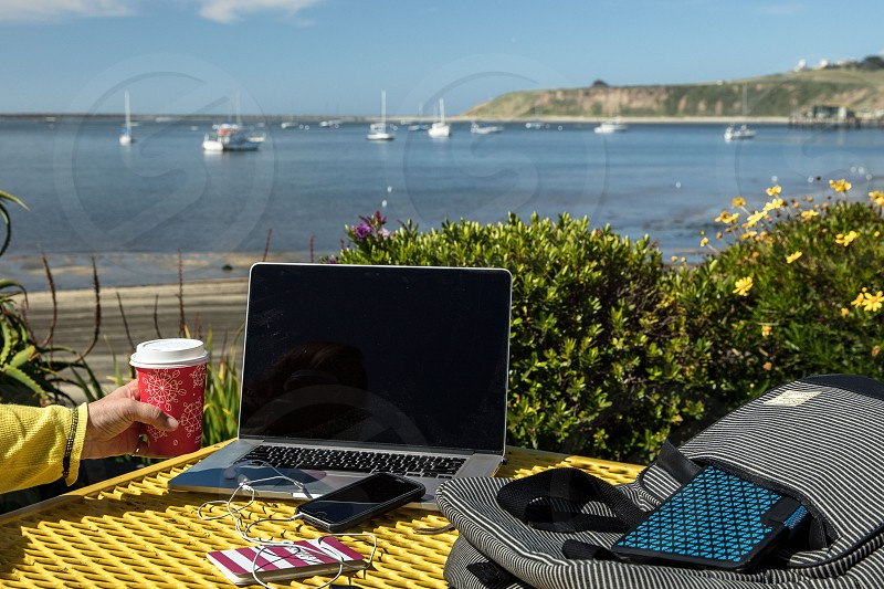 working outdoors photo
